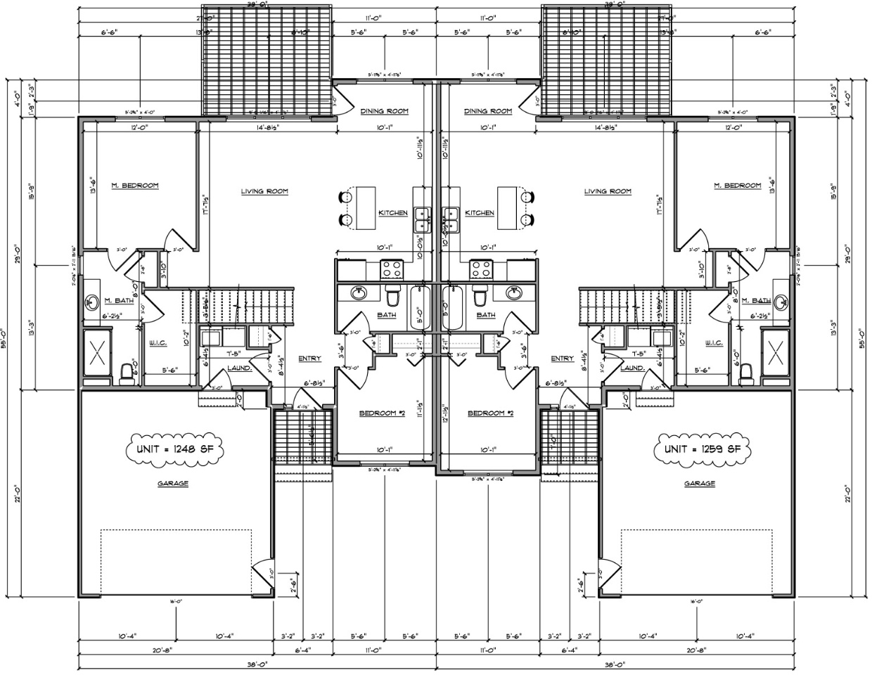 twin home floor plan house design plans